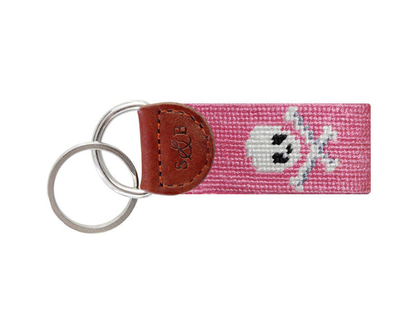 Smathers & Branson Jolly Roger Key Fob in Pink