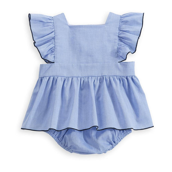 bella bliss Percy Play Set In Blue Chambray
