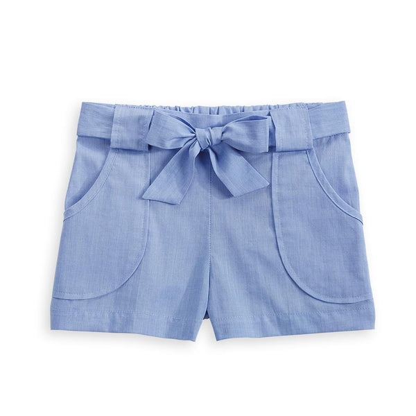 bella bliss Nicollette Short In Blue Chambray