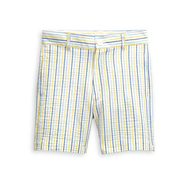 bella bliss Spring Wilson Short In Sunny Seersucker Stripe