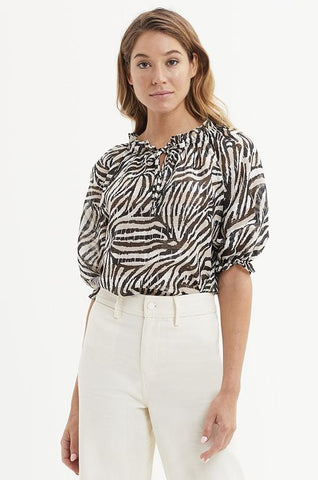 Marie Oliver Billie Blouse in Tonal Tiger