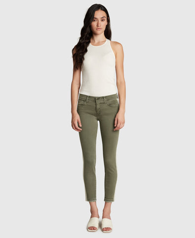Principle the Honor Mid-Rise Skinny Crop in Agave