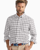 Johnnie-O Landon Button Down Shirt in Heather Gray