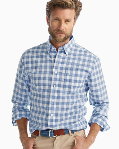 Johnnie-O Landon Button Down Shirt in Marlin