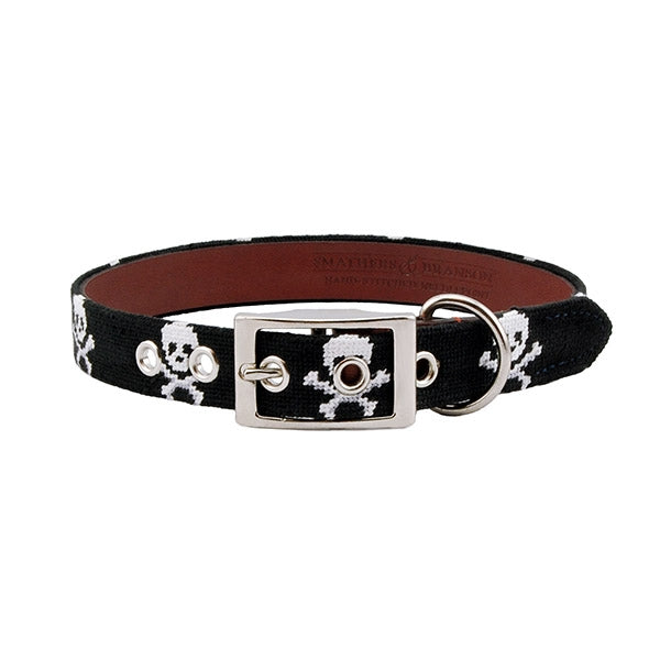 Smathers & Branson Jolly Roger Dog Collar in Black