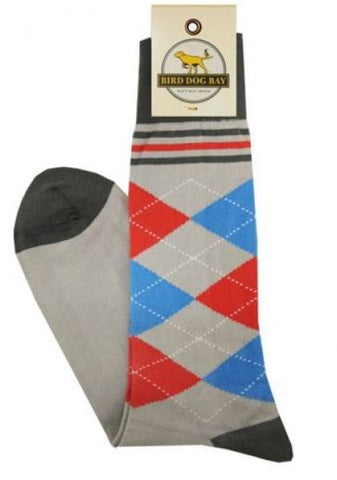 Bird Dog Bay Argyle Socks in Gray