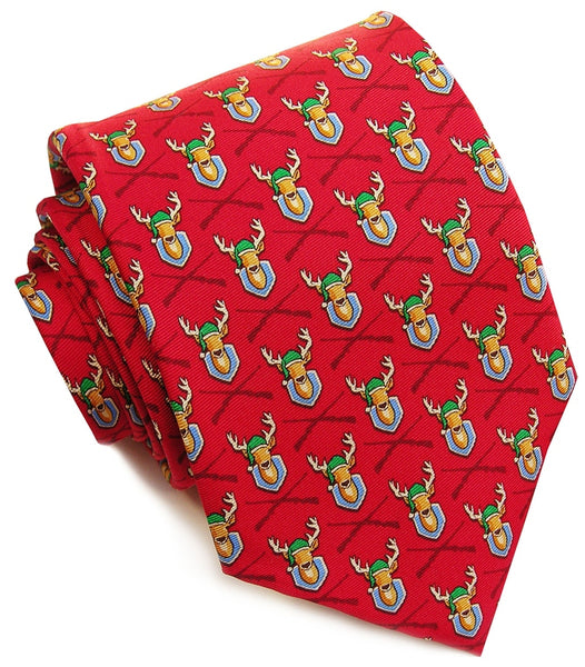 Bird Dog Bay Deercember Necktie in Red