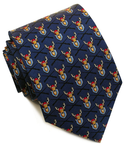 Bird Dog Bay Deercember Necktie in Navy