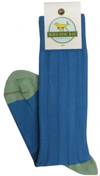 Bird Dog Bay Pedigree Mid Calf Solid Sock in Blue