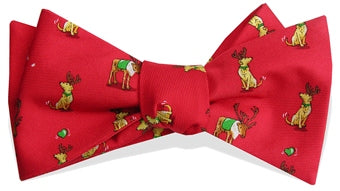 Bird Dog Bay Reindeer Love Bow Tie in Red