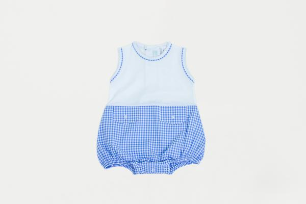 Cuclie Baby Gingham Bubble Romper