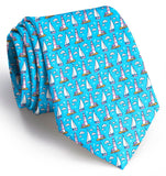 Bird Dog Bay Welcome Ashore Necktie in Turquoise