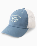 Southern Tide Youth Skipjack Embroidered Trucker Hat in Blue