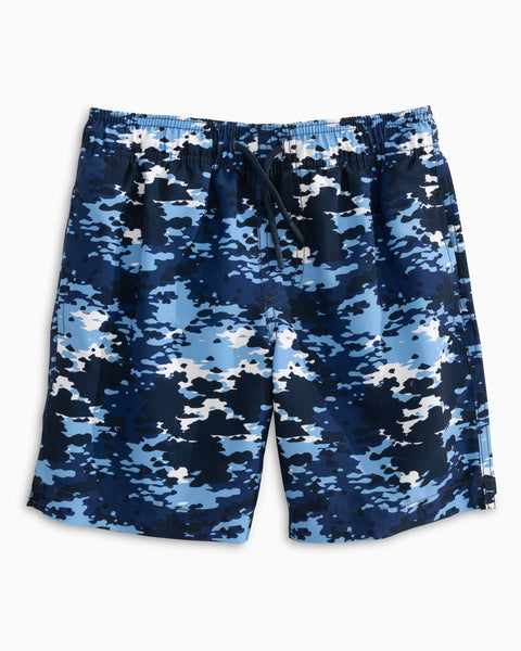 Southern Tide Youth Graffiti Camo Swim Trunk