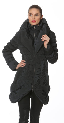 Ciao-Milano Coco Coat in Charcoal