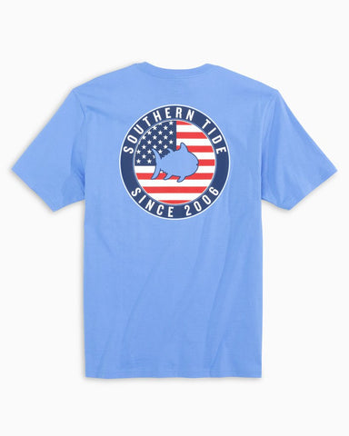 Southern Tide Men's Skipjack  American Patch T-Shirt