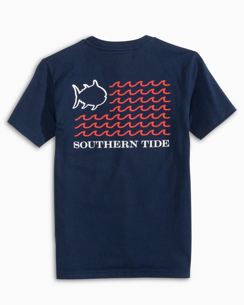 Southern Tide Youth American Wave Flag T--Shirt