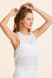 Alala Mesh Tank Top in White