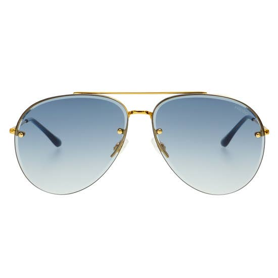 Freyrs Charlie Sunglasses - Gold/Blue