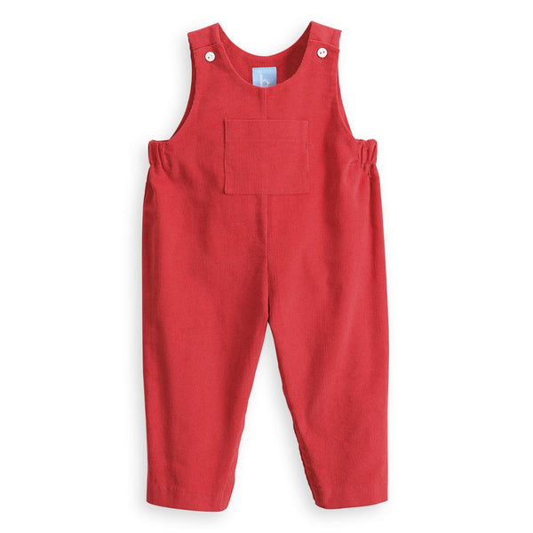 Bella Bliss Corduroy Overall in Brick
