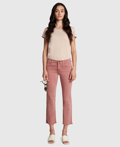Principle Denim Optimist Mid Rise Crop in Washed Berry