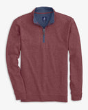 Johnnie-O Sully 1/4 Zip in Cranberry