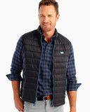 Johnnie-O Hudson Quilted 2-Way Vest in Black