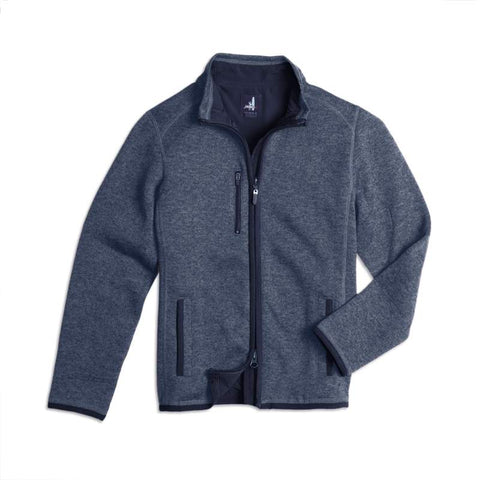 Johnnie-O Bates Jr. 2 Way Zip Jacket in Midnight