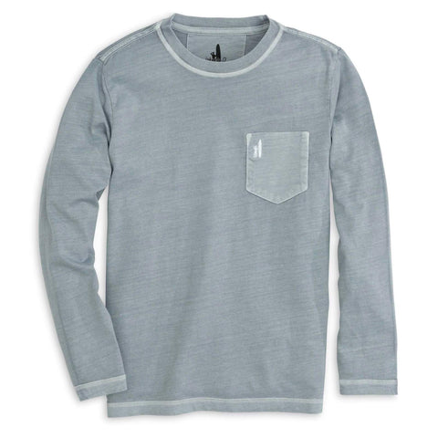 Johnnie-O Brennan Jr. Long Sleeve T-Shirt in Steel