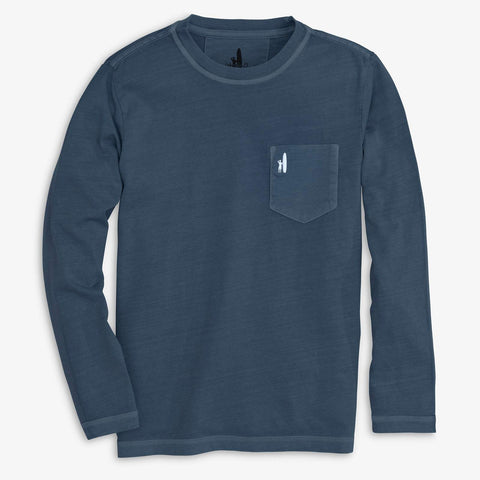 Johnnie-O Brennan Long Sleeve T-Shirt in Wake