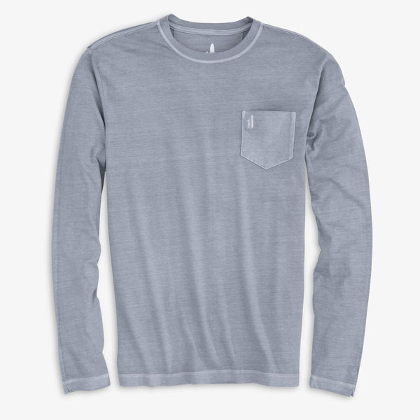Johnnie-O Brennan Long Sleeve T-shirt in Steel