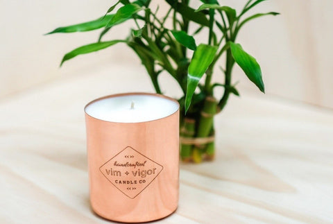 Vim and Vigor Mainline Candle Bamboo and Basil - 16 oz.
