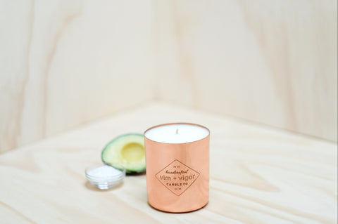 Vim and Vigor Mainline Candle Sea Salt and Avocado - 16 oz.