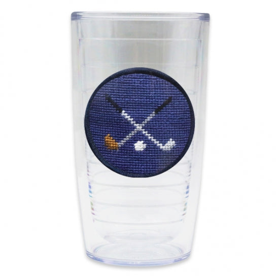 Smathers & Branson Crossed Clubs Tervis Tumbler in Navy