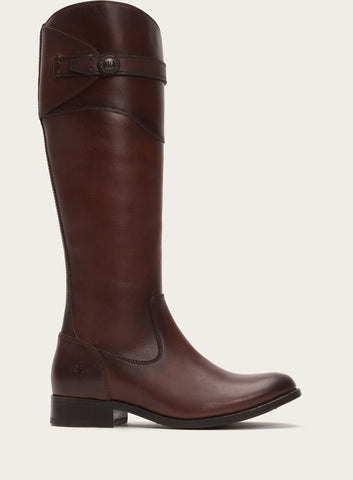 FRYE Molly Button Tall Boot in Redwood