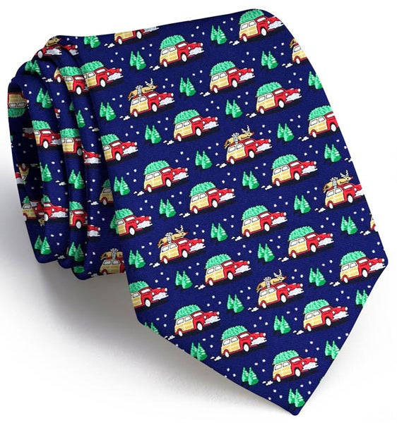 Bird Dog Bay Up on the Rooftop Necktie in Navy