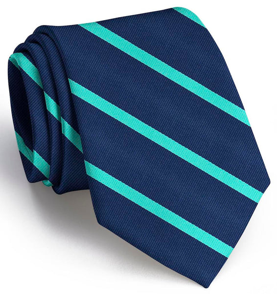 Bird Dog Bay Stowe Necktie in Navy and Green