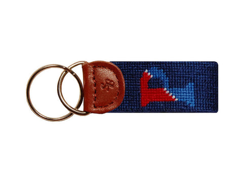 Smathers & Branson University of Pennsylvania Needlepoint Key Fob in Navy