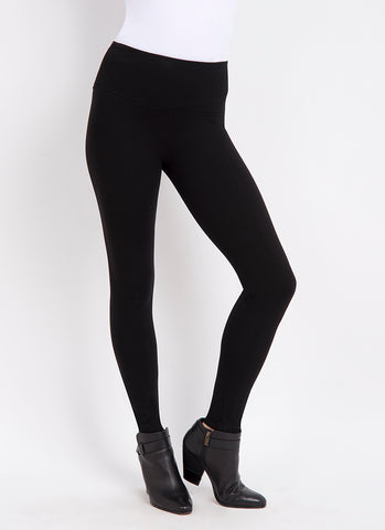 Lysse Center Seam Ponte Legging in Black