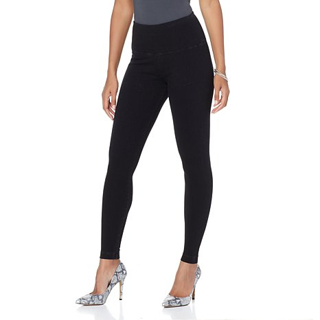 Lysse Denim Tight Ankle Legging in Black