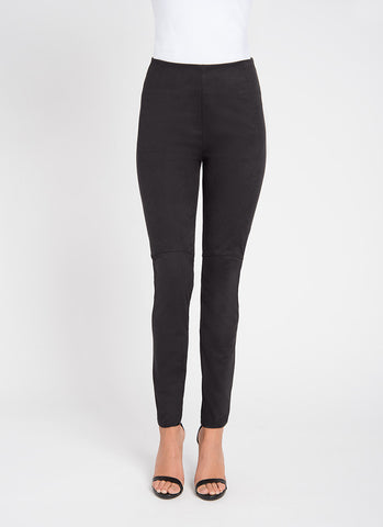 Lysse Hi Waist Suede Legging in Black