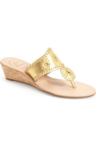Jack Rogers Jacks Mid Wedge in Gold
