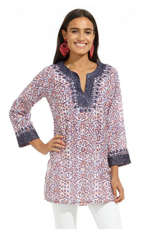 Casa Kurta Kera Layer in Indigo Rose