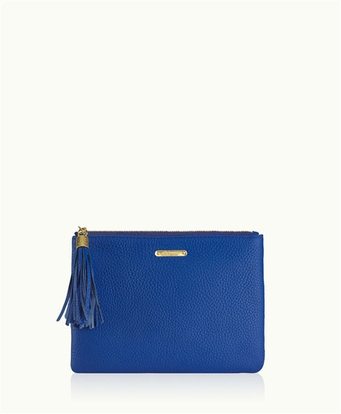 All in One Bag w/Slip Pocket in Cobalt Pebble Leather