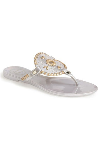Jack Rogers Georgica Jelly in Silver/Gold