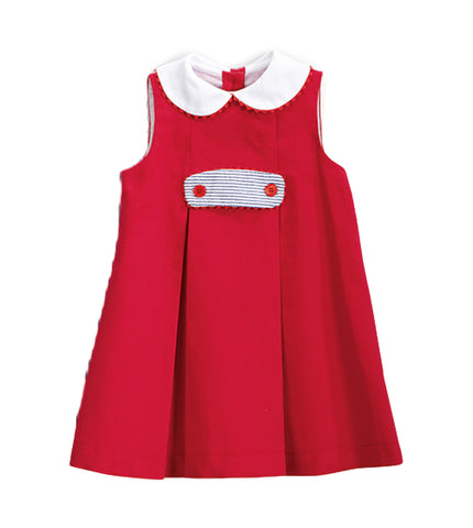 Bella Bliss Beatrice Dress In Red Pique