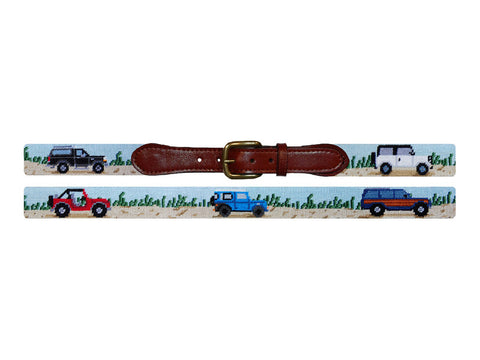 Smathers & Branson Beach Trucks Needlepoint Belt