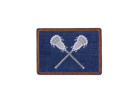 Smathers & Branson Lacrosse Sticks Card Wallet in Navy