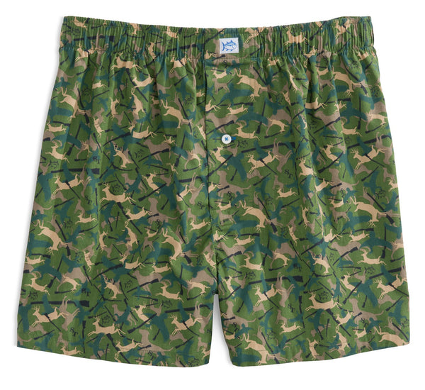 Camo Boxer in Evergreen
