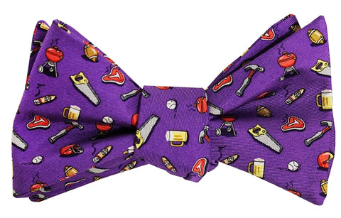 Bird Dog Bay Guy Tie Bow Tie In Purple